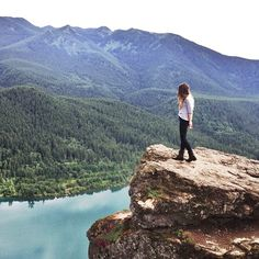 Rattlesnake Ledge, Washington. Hiked this last month in the snow and rain. Crowded but great view!