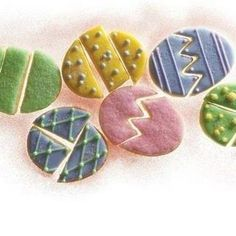 Easter-Egg Puzzle Cookies