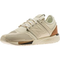... NEW BALANCE 247 LUXE MENS - WHITE/TAN ...