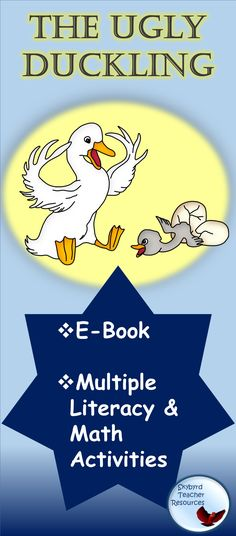 Ugly Duckling Activities Literacy Lessons Reading Math Activities lessons and printables