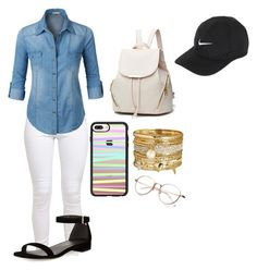 """""""✔️✨"""" by kaldridge-1 on Polyvore featuring LE3NO, Stuart Weitzman, Avenue, Casetify and NIKE"""