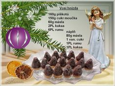 Christmas Sweets, Christmas Candy, Christmas Baking, Christmas Cookies, Xmas, Christmas Biscuits, Czech Recipes, Deserts, Food And Drink