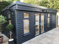 New Pembroke Garden Room by Browns Garden Buildings room cladding Garden Office Shed, Backyard Office, Backyard Studio, Backyard Patio Designs, Outdoor Office, Outdoor Decor, Backyard Guest Houses, Garage Guest House, Backyard House