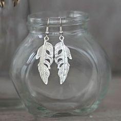 Tutti & Co Jewellery Silver Feather Drop Earrings from Lizzielane.com £12.99 http://www.lizzielane.com/product/tutti-co-jewellery-silver-feather-drop-earrings/