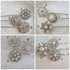 Bridesmaids hair accessory, pearl crystal hair pin,  bobby pin, Wedding hair clip, bridesmaids gift, Bridal Hair slides