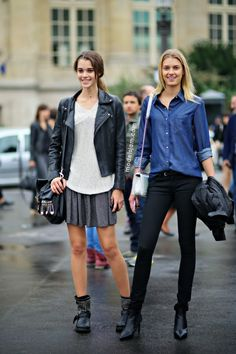 Pauline Hoarau and Sigrid Agren after Chanel, Paris, March 2013