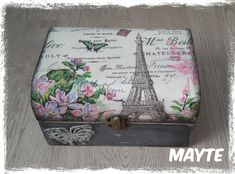 Decoupage Box, Trinket Boxes, Ideas Para, Decorative Boxes, Mary, Scrapbooking, Crafts, Vintage, Woodworking Crafts