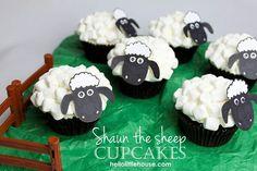 Shawn the Sheep cupcakes