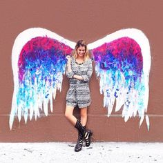 Fashionlaine's 8 Great Photo Backdrops in LA Angel Wings Wall, Wall Backdrops, Great Photos, Concept, Creative, Outdoor Decor, Painting, Image, Angeles