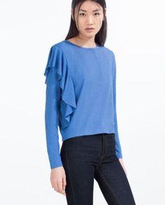 Volantes – primavera/verano 2016 – Nicole Diver dice … Zara Official Website, No Frills, Bell Sleeve Top, Long Sleeve, T Shirt, Clothes, Tops, Women, Dice