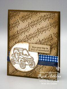 Teenage Boy Birthday, Birthday Cards For Boys, Masculine Birthday Cards, Handmade Birthday Cards, Masculine Cards, Car Part Furniture, Stampin Up Christmas, Metal Stamping, Homemade Cards