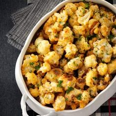 Smoky Cauliflower - The smoked Spanish paprika gives a simple side of roasted cauliflower extra depth. This is definitely a favorite. Juliette Mulholland, Corvallis, Oregon Check out the website for more. Roasted Cauliflower, Cauliflower Recipes, Cauliflower Bites, Purple Cauliflower, Cauliflower Casserole, Vegetarian Recipes, Cooking Recipes, Healthy Recipes, Easy Recipes
