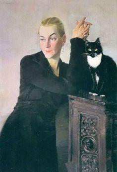 Portrait of Mo von Haugk, 1932 by Conrad Felixmüller (1897-1977)