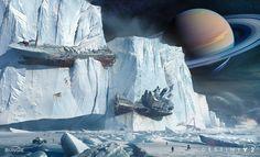 concept ships: Destiny 2 Installer art by Jesse Van Dijk