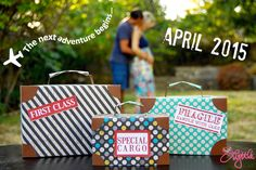he{ART} lyttle: travel themed pregnancy announcement