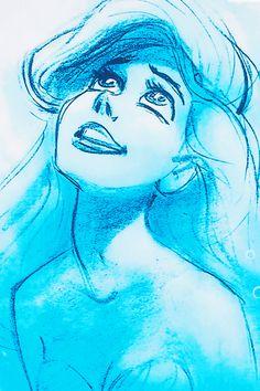 Ariel - the little mermaid - disney wallpaper - sketch Disney Pixar, Walt Disney, Gif Disney, Disney And Dreamworks, Disney Love, Disney Magic, Disney Art, Disney Characters, Ariel Disney