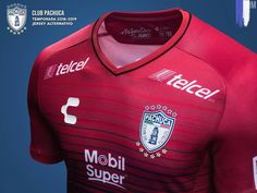 039c2f499 18-19 CF Pachuca Third Away Red Jerseys Shirt