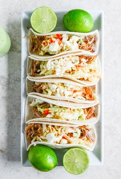 Turn tonight into Taco Night! Try these Pulled Pork Tacos with Sweet Chili Slaw!