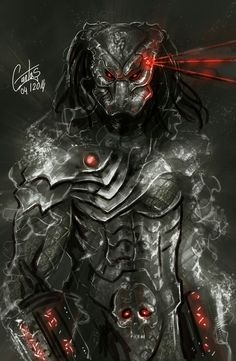 Predator the Candy man a new painting of a new predator - paint in photoshop and what can i say more.love the scene on predator 2 ---do you want some candy ? enjoy in fullsize Predator Series, Alien Vs Predator, Predator Costume, Alien Concept Art, Alien Art, Dark Fantasy Art, Creature Design, Cool Art, Creatures