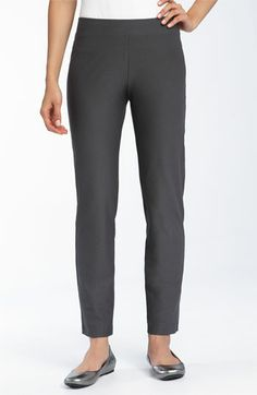 Eileen Fisher Slim Ankle Pant with Yoke | Nordstrom