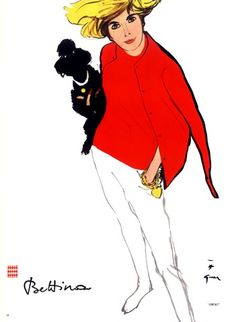 L'Officiel June 1963, Bettina Fashion illustration Rene Gruau