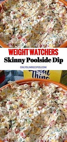 Weight Watchers Skinny Poolside Dip & controller controller Source by Weight Watchers Snacks, Weight Watcher Dinners, Weight Watchers Tipps, Weight Watchers Salmon, Poulet Weight Watchers, Weight Watchers Chicken, Weight Watchers Recipes With Smartpoints, Weight Watcher Recipes, Healthy Cooking Recipes