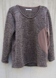 zero - Circular Cut Sliver Pullover Knit - Brown - 23,000JPY