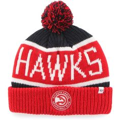 75bb94b5d3bea8 This Atlanta Hawks Calgary knit hat is essential for any fan venturing out  in the cold weather.