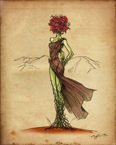 Flower Prisoner  Art Print