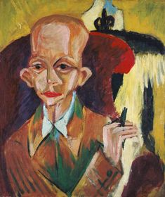 """Ernst Ludwig Kirchner Artist Ernst Ludwig Kirchner was a German expressionist painter and printmaker and one of the founders of the artists group Die Brücke or """"The Bridge"""", a key group leading to the foundation of Expressionism in 20th-"""