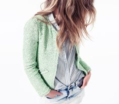 Mint Boucle Jacket......Very cute!