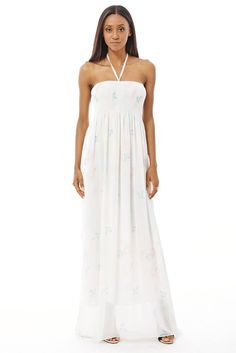 Chiffon Maxi Dress With Elasticated Bust