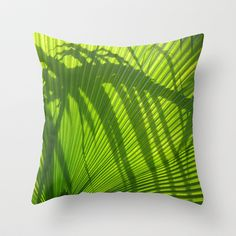 Palm Series III Throw Pillow by Rosie Brown - $20.00