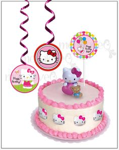 9b7f5e58aa Hello Kitty Carnival DIY 4 Cake Topper by menalove on Etsy