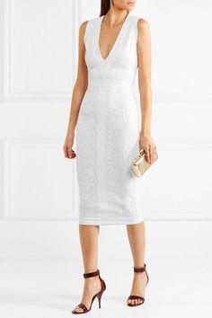 Balmain - Jacquard-knit Dress - White - FR36