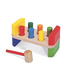 6 Peg Hammer Bench From Pintoy from The Wooden Toybox Toddler Toys, Baby Toys, Kids Toys, Baby Baby, Wooden Toy Boxes, Wooden Toys, Baby Shower Gifts, Baby Gifts, Imagination Tree