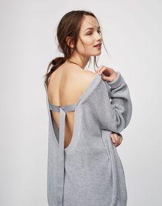 Jersey escote espalda - Punto - Ropa - Mujer - PULL&BEAR España