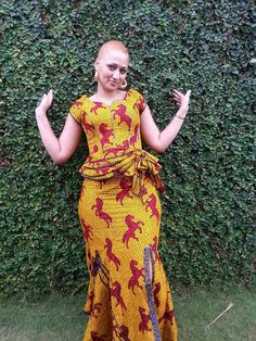 African Maxi Dress African Clothing by AfricanModernFashio