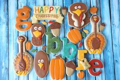 "Well the turkey cookies have come out in full force to wish you a very Happy Thanksgiving! Add a little fun and whimsy to your celebration with a few of these cute little guys that you can later ""gobble"" up.I couldn't resist. Turkey Cookie Cutter, Turkey Cookies, Fall Cookies, Cut Out Cookies, Sugar Cookies, Cookie Cutters, Thanksgiving Cookies, Christmas Cookies, Thanksgiving Ideas"