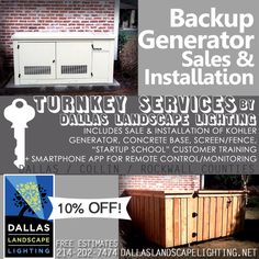 A home #BackupPower #generator anticipates & helps you endure Mother Nature's mood swings in #NorthTexas . #Dallas Landscape Lighting offers TURNKEY sale & installation of Kohler generators - from sales & installation (includes concrete footing/mounting base) & 'StartUp School' customer training (plus an App for remote control/monitoring). Free estimates 214-202-7474 or http://www.dallaslandscapelighting.net/services/stand-by-generators/?no_redirect=true #parkcities #frisco #plano #rockwall
