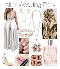 """After Wedding Party"" by crescentxwing ❤ liked on Polyvore featuring Steve Madden, Fiebiger, Burberry, Suzanne Kalan, Maria Francesca Pepe, Givenchy and mizuki"