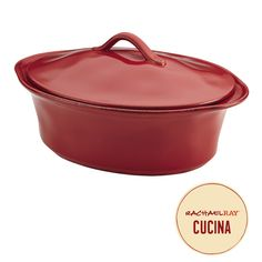Crafted from durable stoneware with outstanding solidity and glazed with earthy color, this handsome Rachael Ray Cucina Stoneware 3-1/2-Quart Oval Casserole is a favorite for preparing mouth-watering meals for every occasion. Click on the image to learn more.