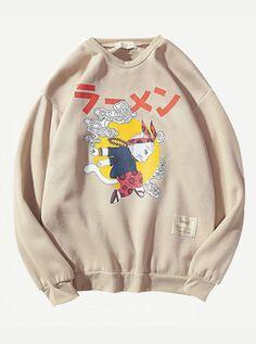 a5ebd09b $15 - Men Drop Shoulder Cartoon Print Sweatshirt - Men Sweatshirts  #sweatshirt #sweatshirts Funny