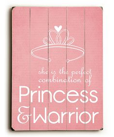 'Princess & Warrior' Wall Art | Daily deals for moms, babies and kids
