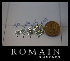 Your perfect diamond is only a few steps away. At Romain Diamonds, we simply the diamond buying process for you. Deal with reputable diamond experts! Diamond Sizes, Designer Engagement Rings, Ring Designs, Diamond Earrings, Your Style, Stuff To Buy, Jewelry, Bijoux, Jewlery
