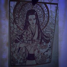 ✂️✂️✂️ #細川ガラシャ #paperCutOut ・ ✟Mrs. Garatia HOSOKAWA✟  Early #Christian in Japan. ・  1595. After persecution of Christians in Japan, she was baptized. ・ #切り絵 #paperArt #paperCraft #papercutart #papercutting #handcut #handcraft #japan #japaneseculture #japanesque #kimono #art