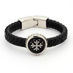 Men's Casual Style Braided PU Leather Cord Bracelets from Pandahall.com                  #pandahall