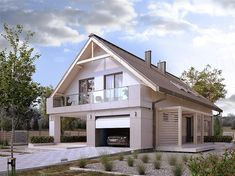 Projekt domu MT Amarylis 4 paliwo stałe CE - DOM - gotowy koszt budowy Home Fashion, Small Towns, House Plans, Outdoor Structures, House Design, Cabin, Mansions, House Styles, Inspiration