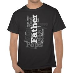 Dad Word Cloud Collage Father's Day Black and White T-Shirt, $24 #fathersday