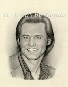 Jim Carrey by rondawest {from USA} ~ pencil portrait